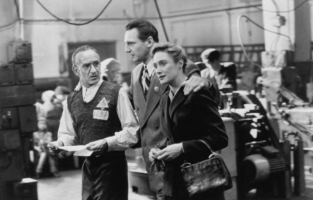 Liam Neeson, Ben Kingsley, and Caroline Goodall in Schindler's List (1993)